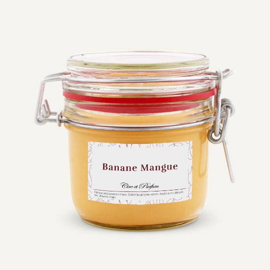 bougie parfumée Cire et Parfum banane mangue