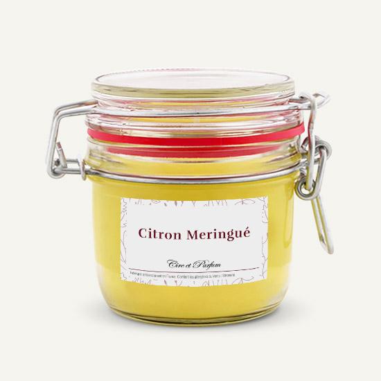 bougie parfumée Cire et Parfum citron meringue