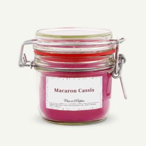 bougie parfumée Cire et Parfum macaron cassis