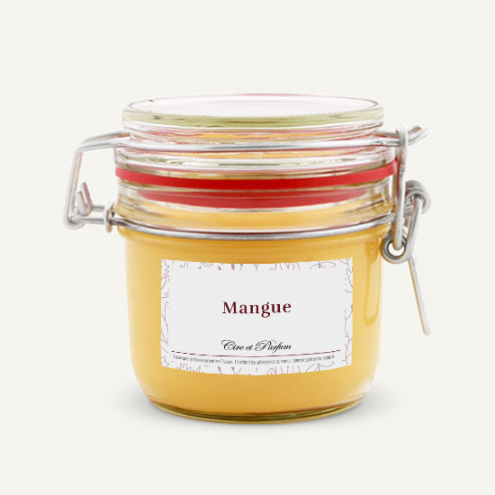 bougie parfumée Cire et Parfum mangue