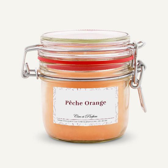 bougie parfumée Cire et Parfum peche orange