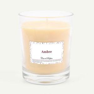 bougie parfumee Cire et Parfum ambre