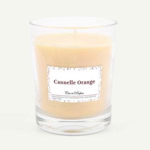 bougie parfumée Cire et Parfum cannelle orange