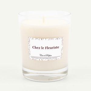 bougie parfumée Cire et Parfum chez le fleuriste