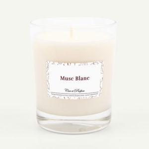 bougie parfumée Cire et Parfum musc blanc