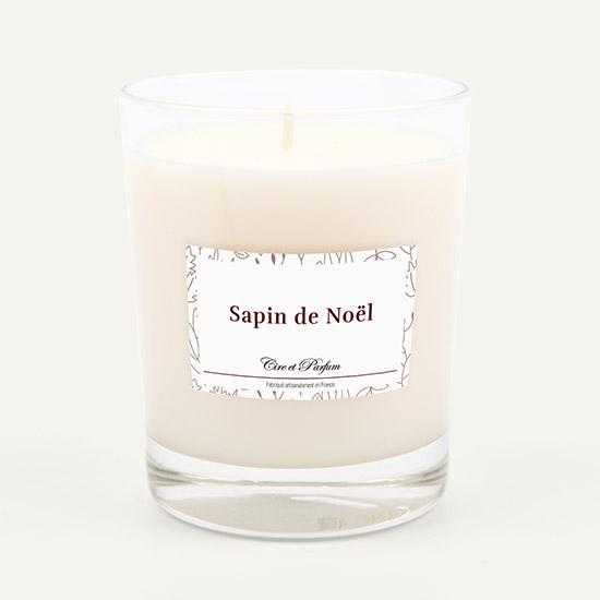 bougie parfumée Cire et Parfum sapin de noel