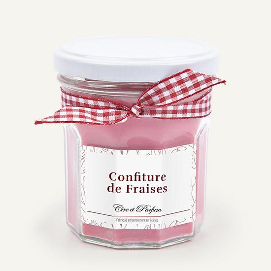 bougie parfumée Cire et Parfum confiture de fraises
