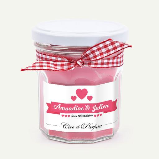 Bougie parfumée saint valentin Cire et Parfum