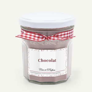 Bougie pot de confiture chocolat