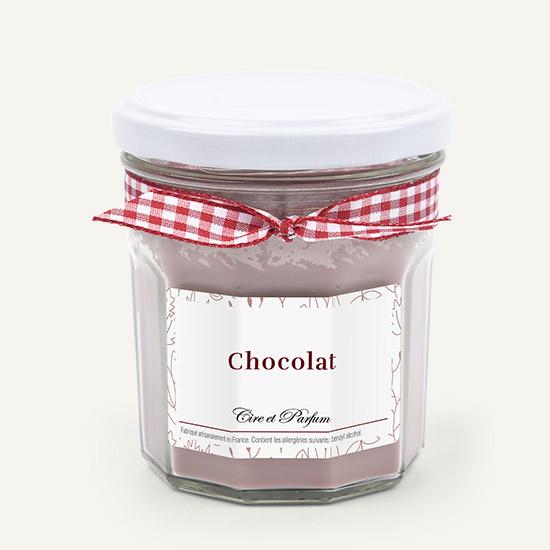Bougie pot de confiture chocolat