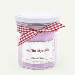 bougie parfumée muffin myrtille